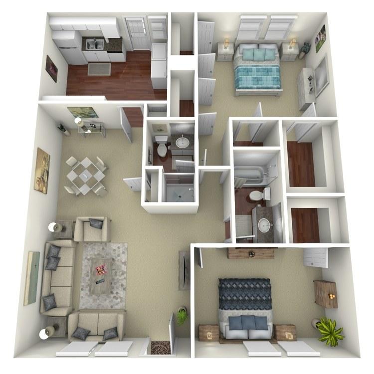 Floor plan image of B8