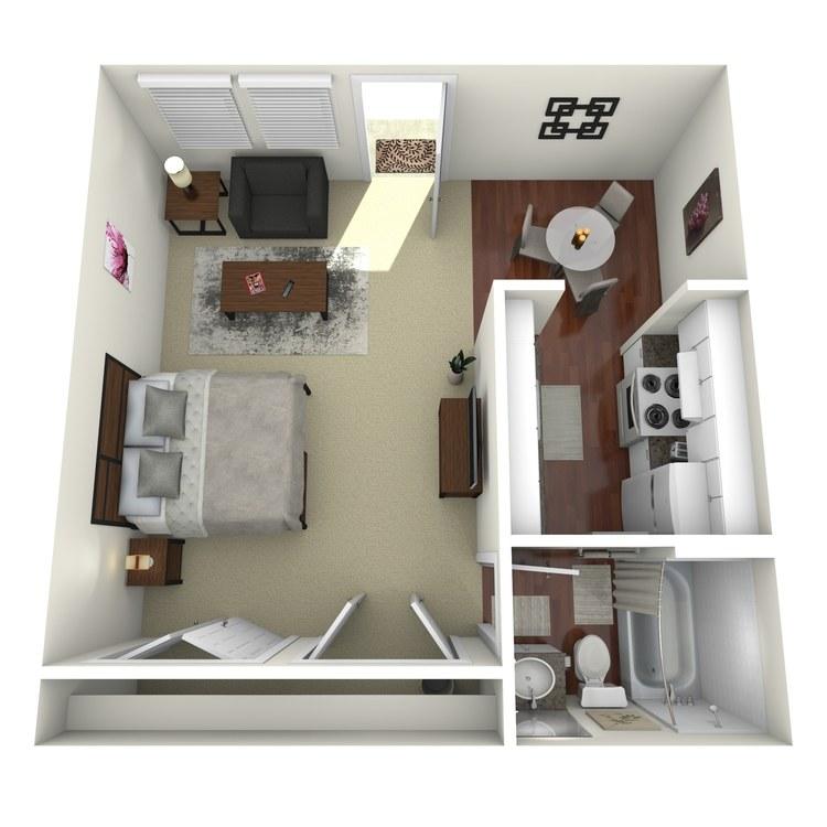Floor plan image of Efficiency A