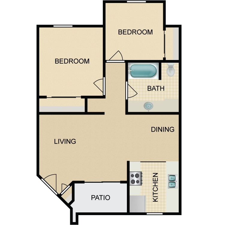 Floor plan image of The Ponderosa, Downstairs
