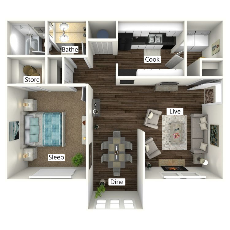 Floor plan image of The Bungalow with Sunroom