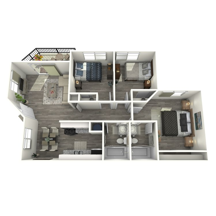 Floor plan image of 3 Bed