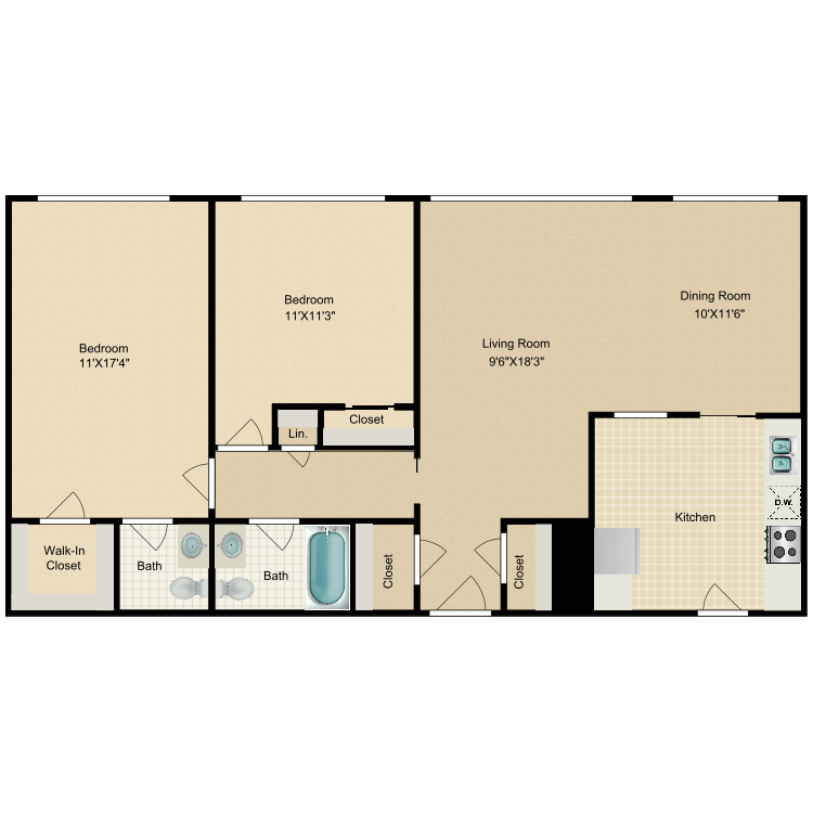 Floor plan image of Archway-Astor Place