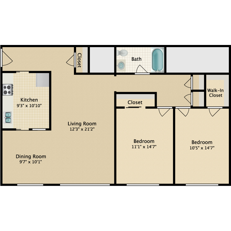 Floor plan image of Archway-Bleeker Street