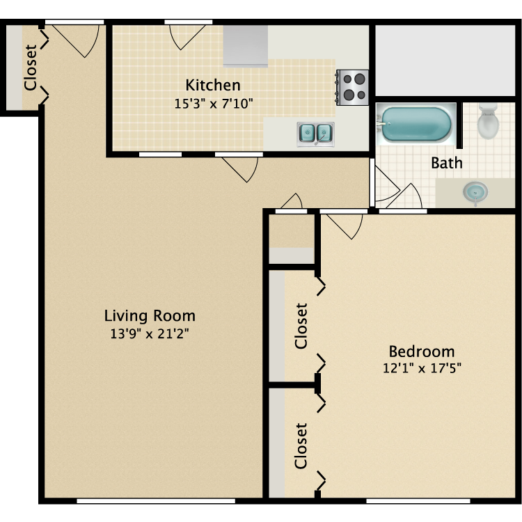 Floor plan image of Riviera-Fifth Ave