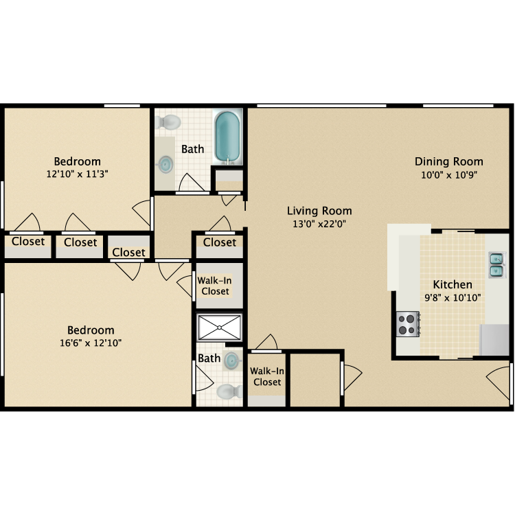 Floor plan image of Archway-The Ganesevoort