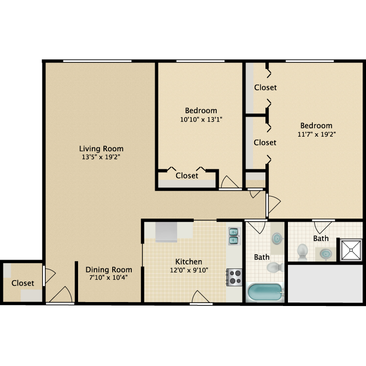 Floor plan image of Riviera-Lexington Ave