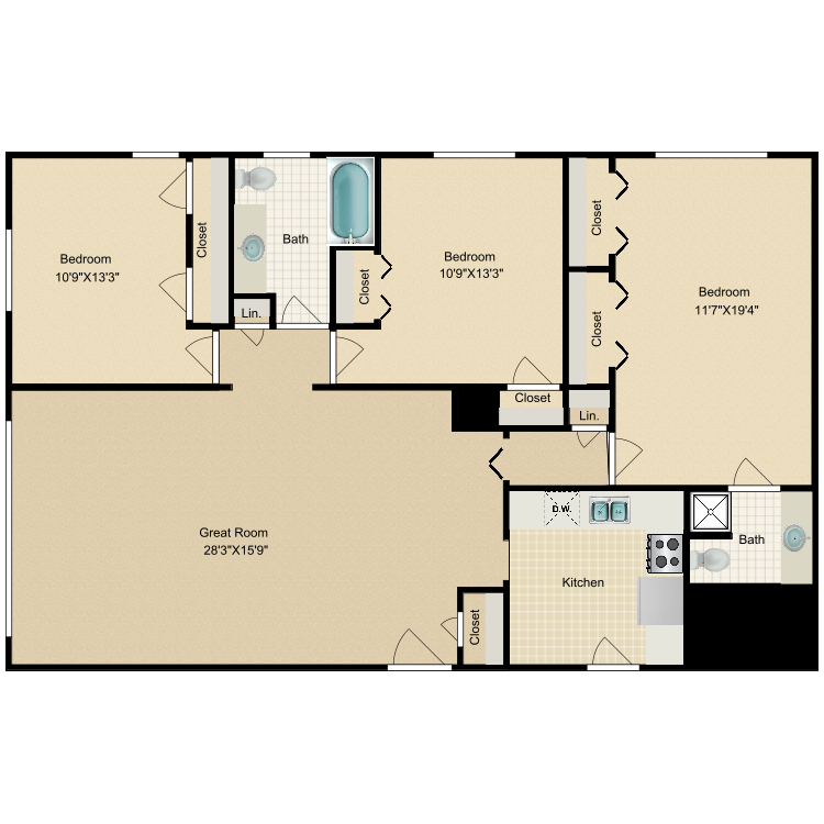 Floor plan image of Riviera-Madison Ave