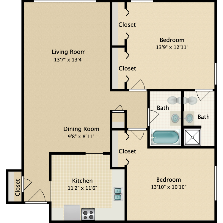 Floor plan image of Riviera-Maiden Lane