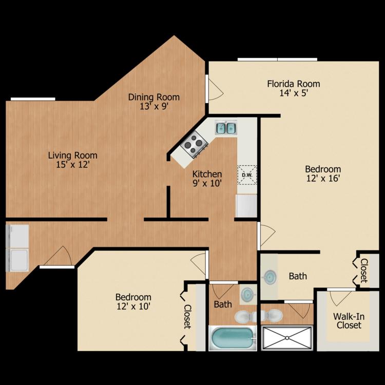 Floor plan image of Hemlock