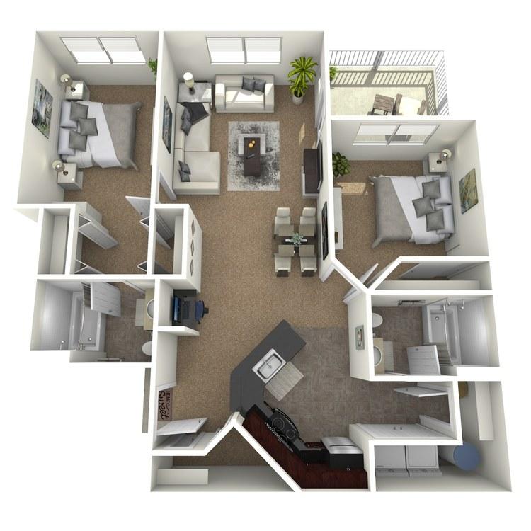 Floor plan image of Nouveau