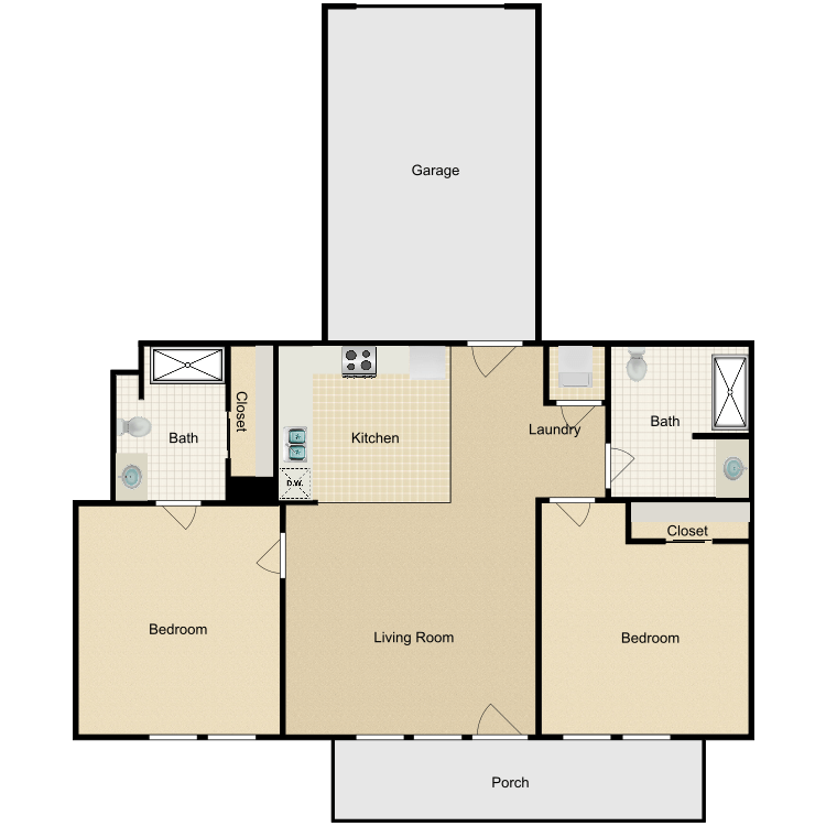 Floor plan image of Plan A - Attached Garage