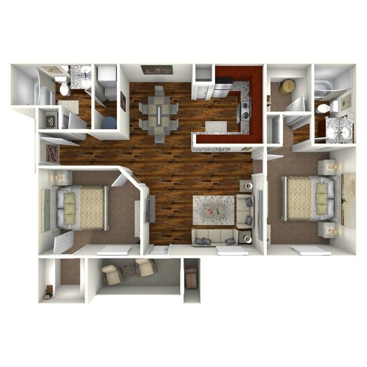 Floor plan image of Unit D