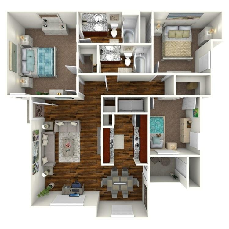 Floor plan image of Unit E