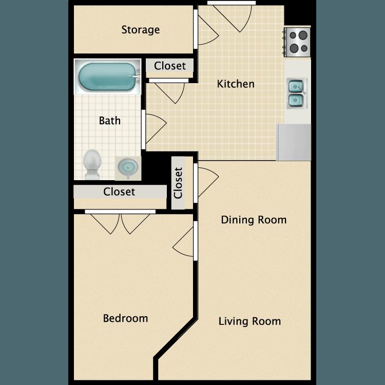 Floor plan image of 1 Bed