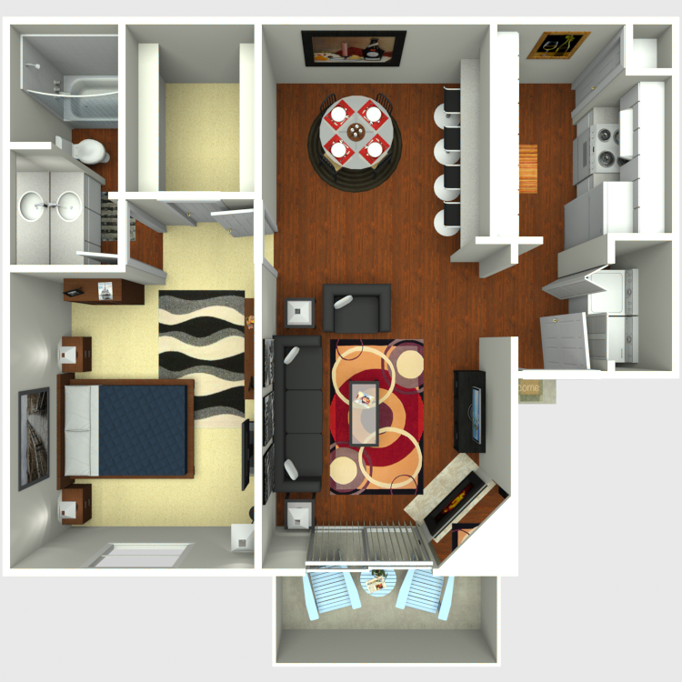Floor plan image of B1-B2