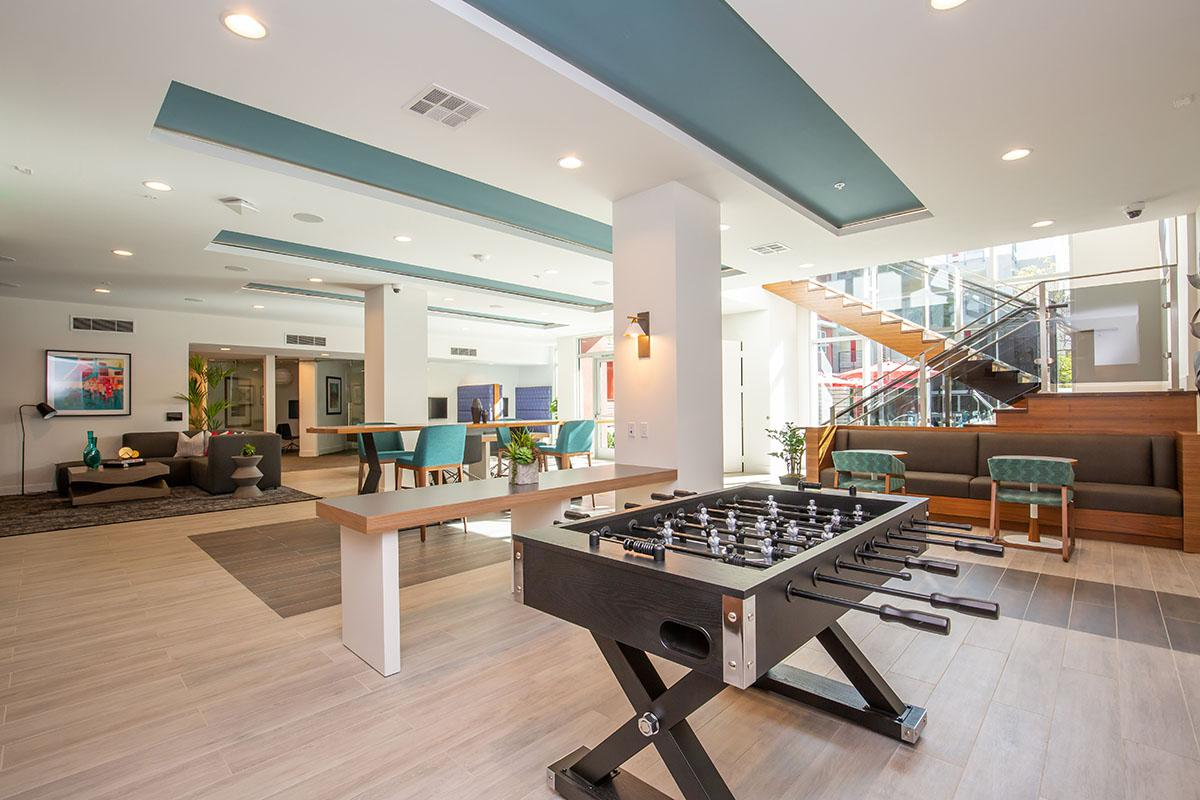 Community room with foosball table