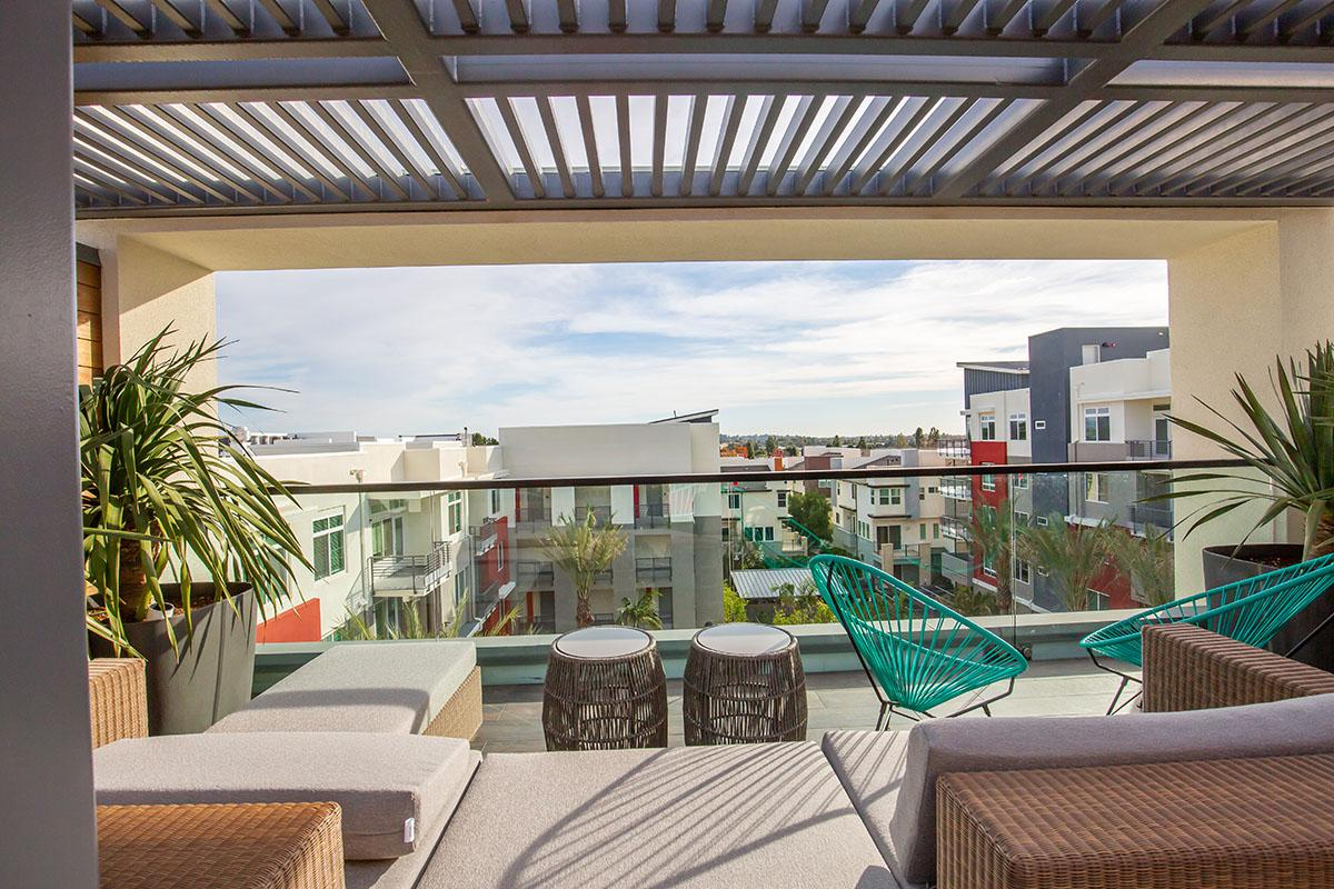 Rooftop couch overlooking Calligraphy Urban Residences