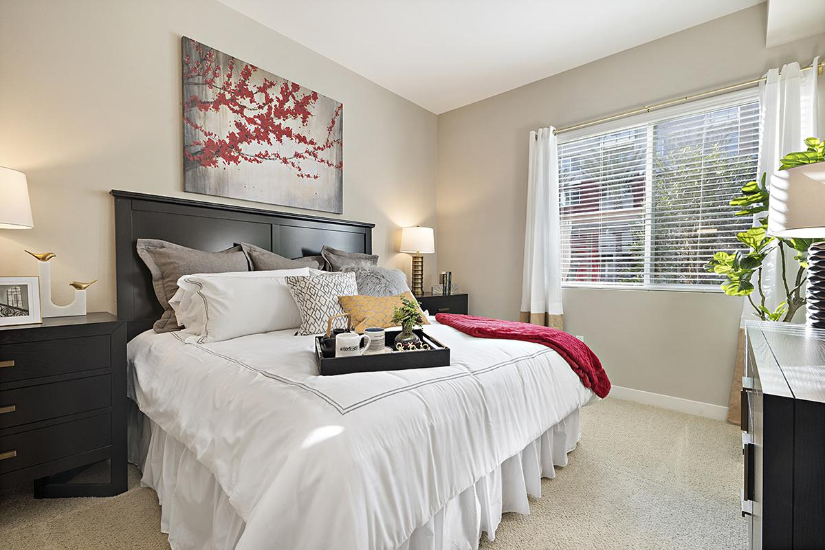 Bedroom with white bedding