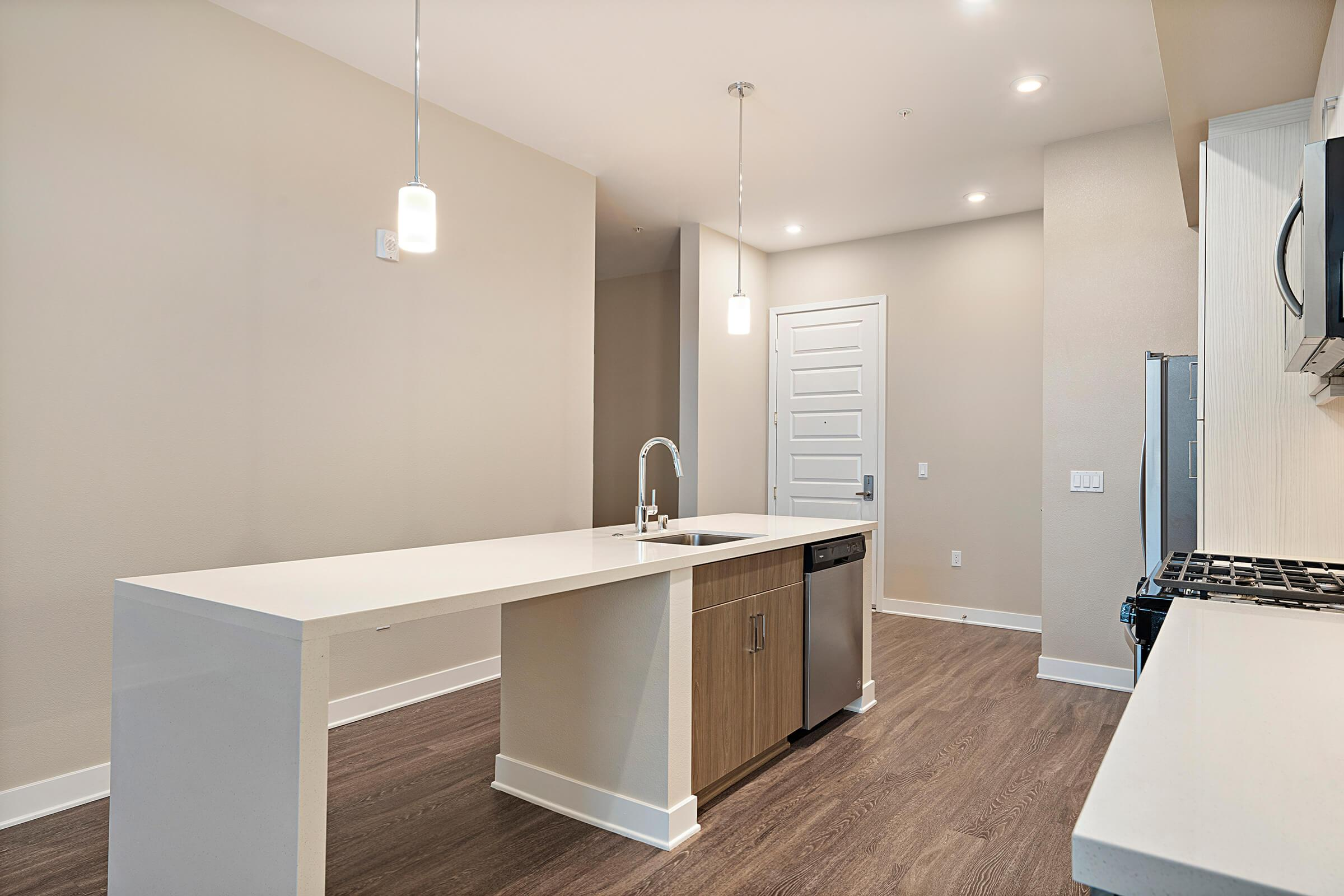 Kitchen with an island