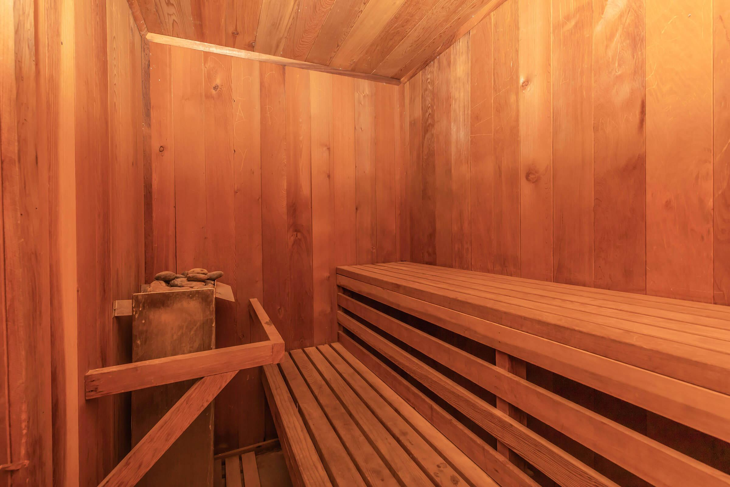 a room with a wooden fence