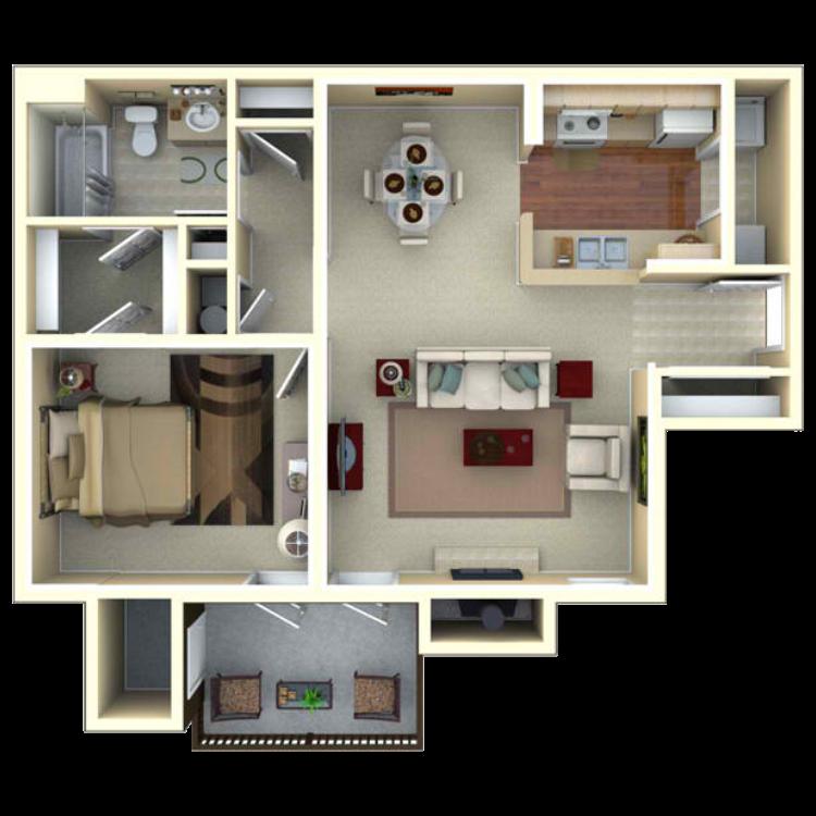 Floor plan image of The Azalea - Penthouse