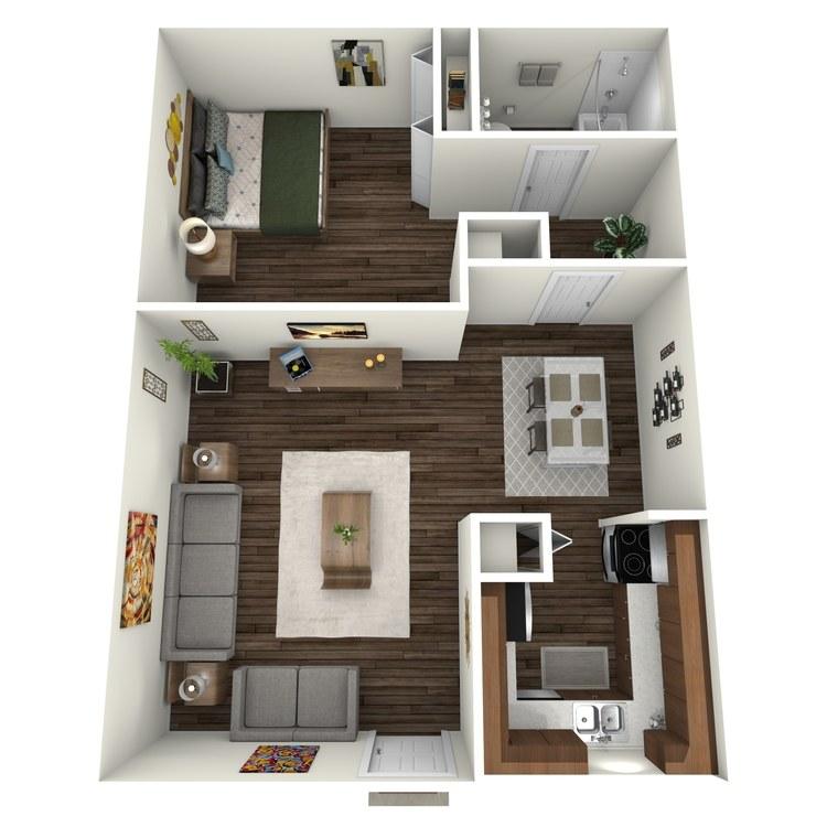 Floor plan image of Villas 1x1 V