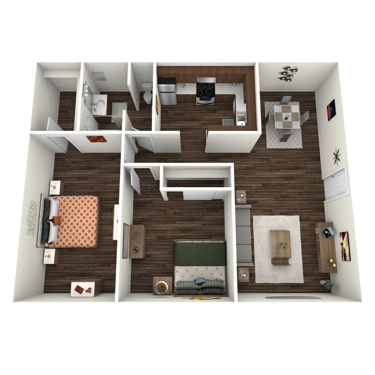 Floor plan image of Villas 2x1 V