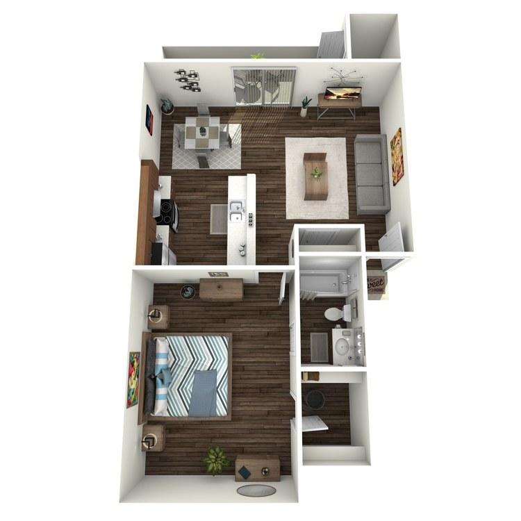 Floor plan image of Westchester 1x1 LW