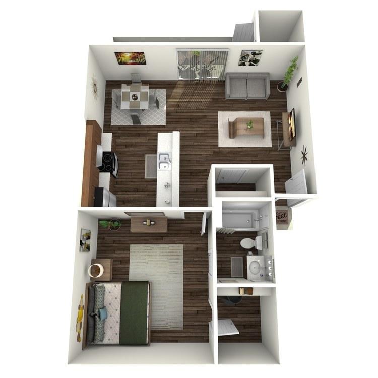 Floor plan image of Westchester 1x1  SW