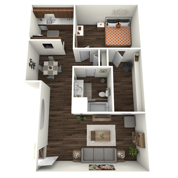 Floor plan image of Cumberland 1x1 LC
