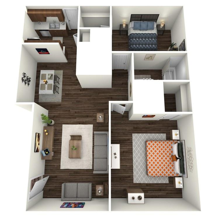 Floor plan image of Cumberland 2x1 C
