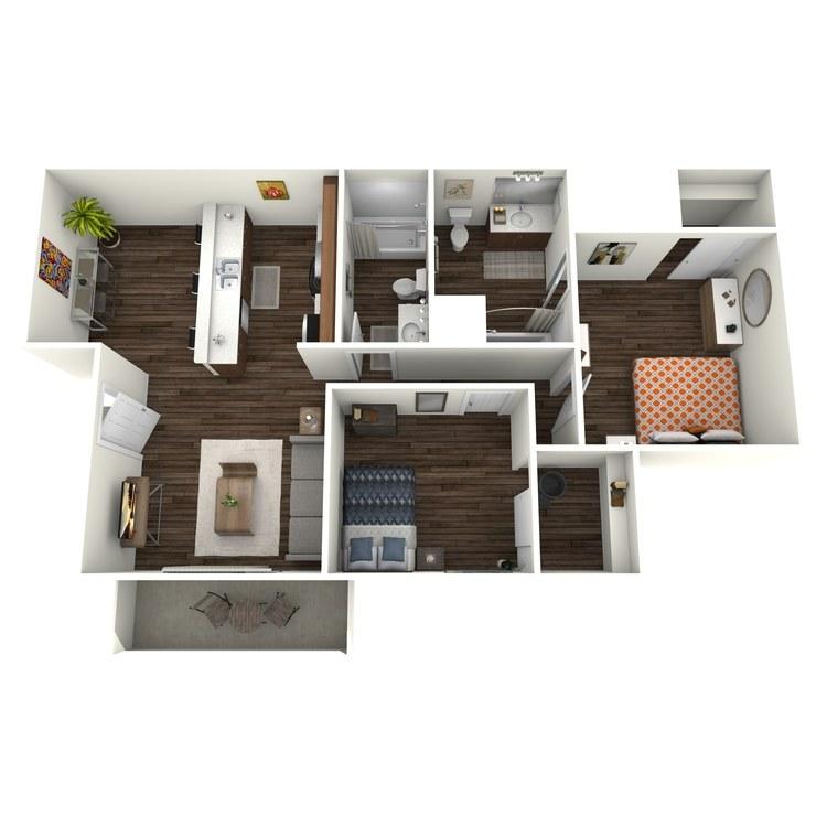 Floor plan image of Westchester 2x2  W