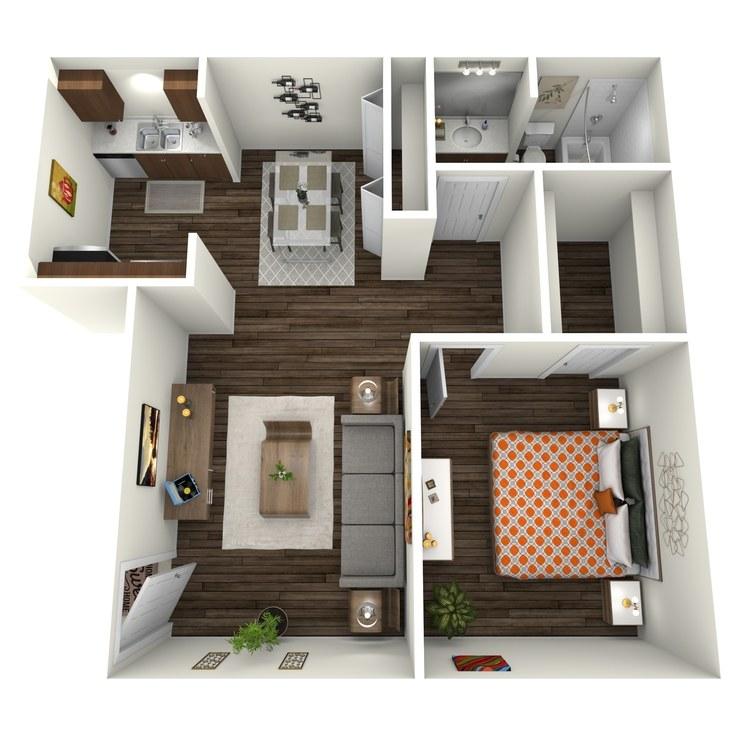 Floor plan image of Cumberland 1x1 SC