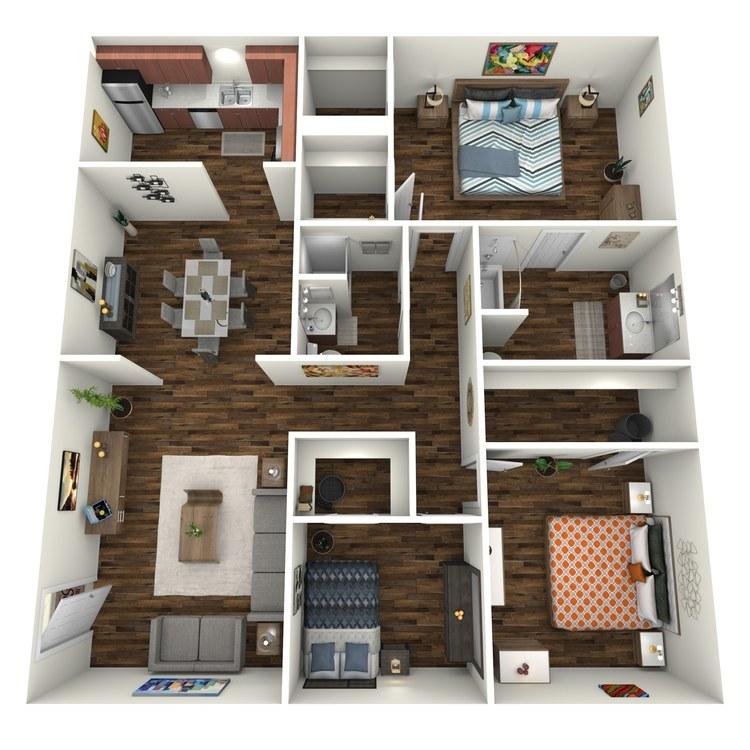 Floor plan image of Cumberland 3x2 C