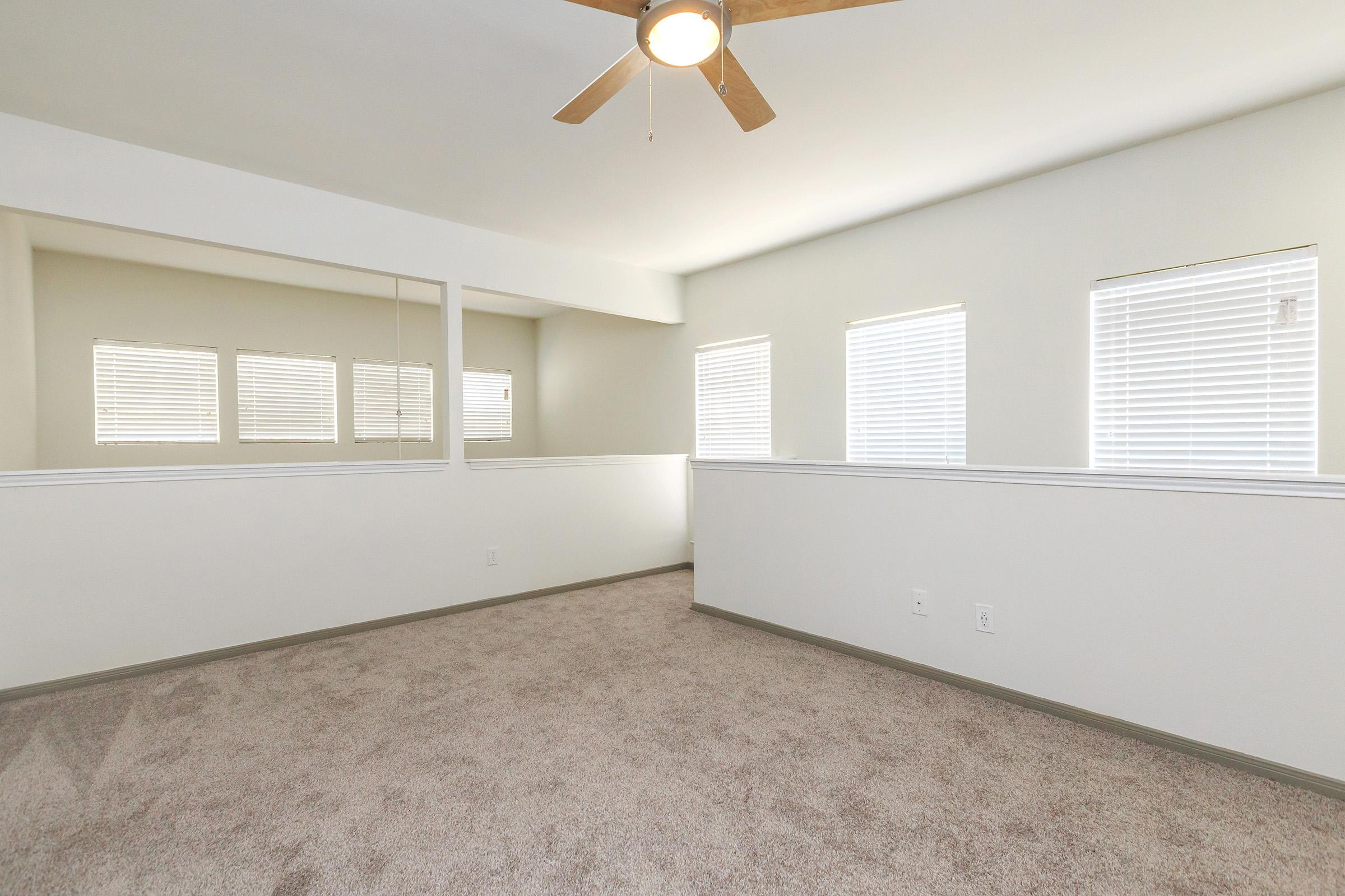 a large white room