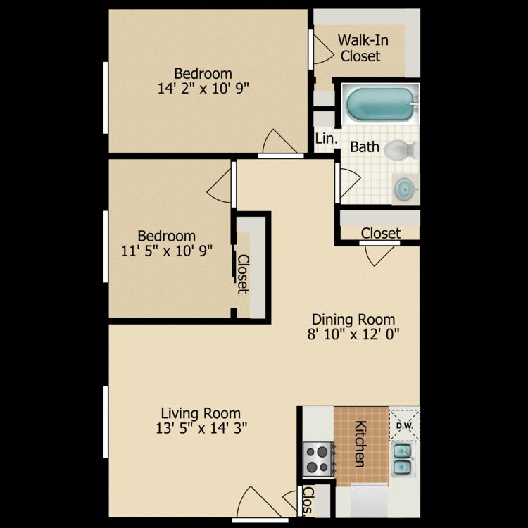 Floor plan image of B-1