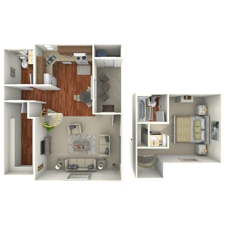Floor plan image of 1 Bedroom Loft
