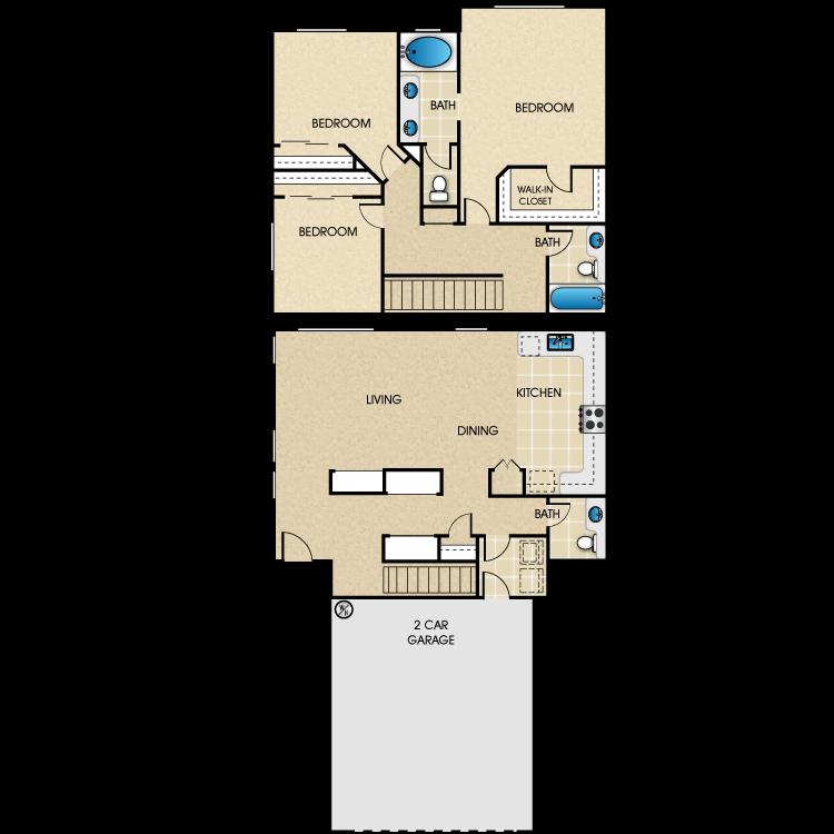 Plan B1 floor plan image