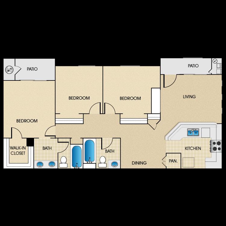 Plan B2 floor plan image
