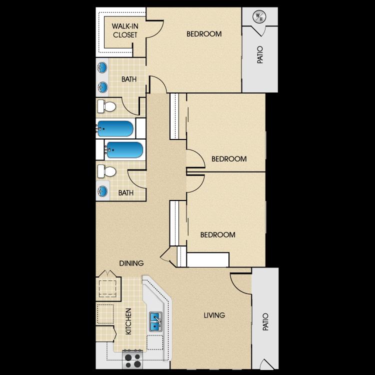 Plan B3 floor plan image
