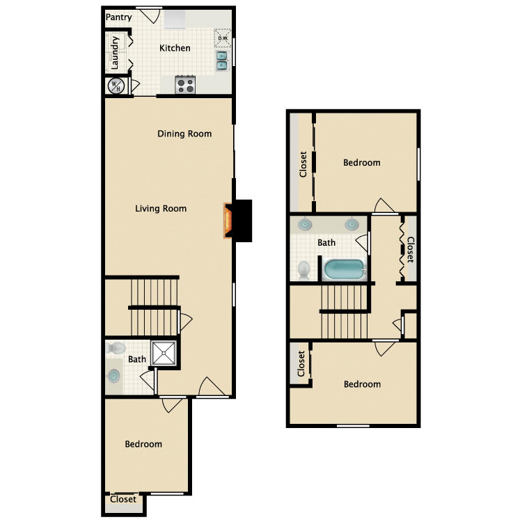 Floor plan image of A Townhouse