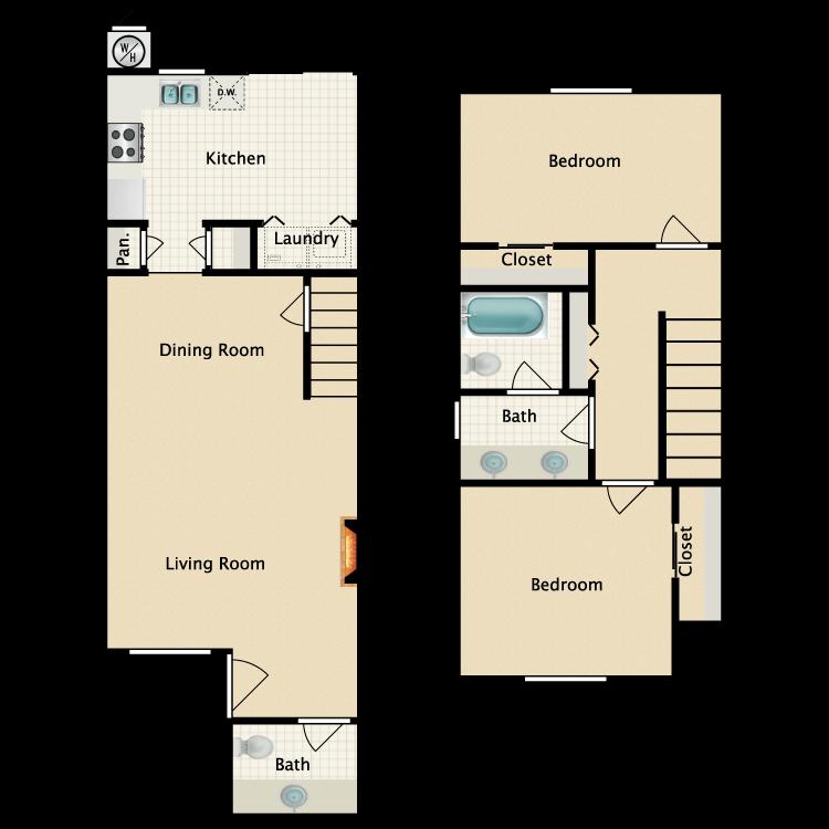Floor plan image of B Townhouse