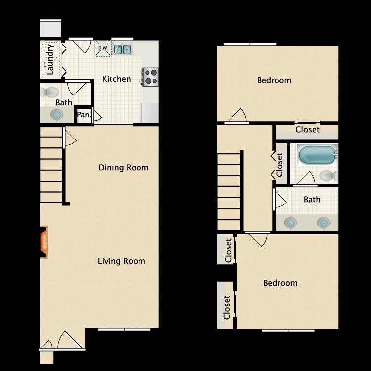 Floor plan image of C Townhouse