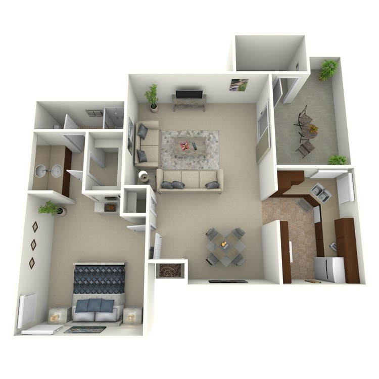 Floor plan image of Junior Sunset