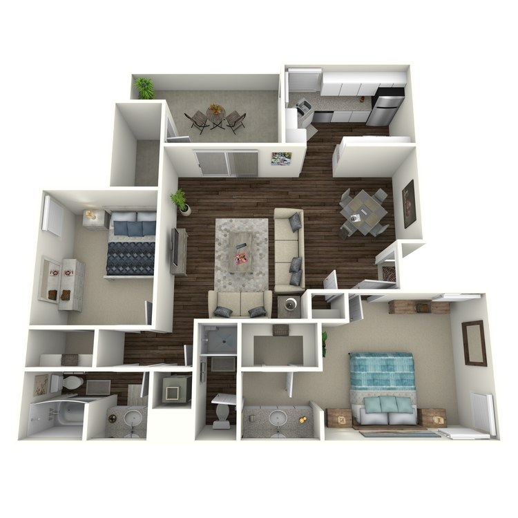 Floor plan image of Sunset - Modern