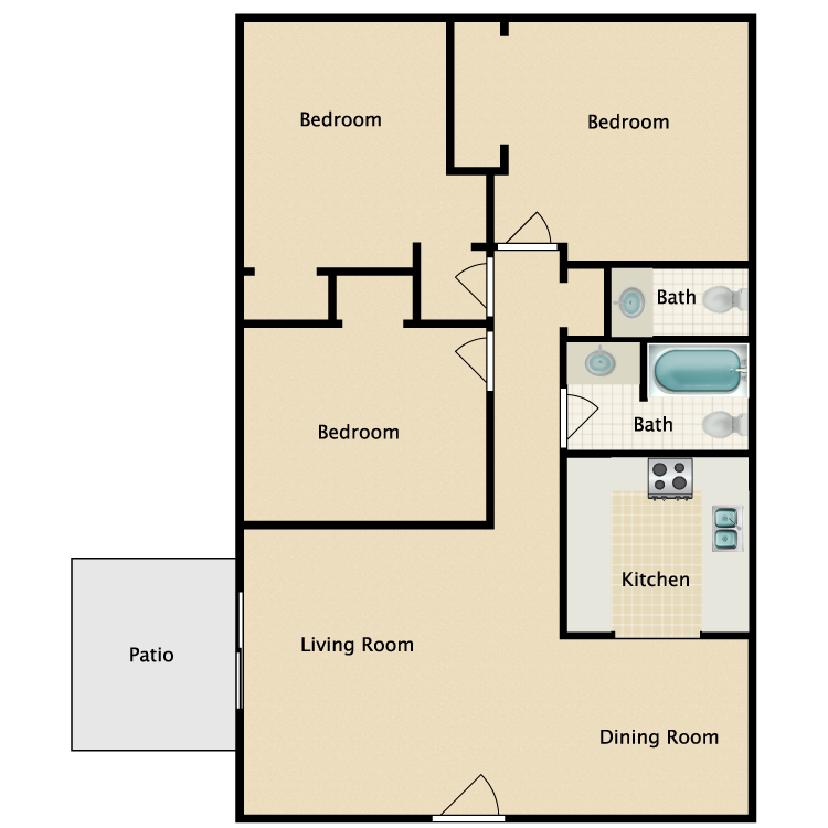 Floor plan image of The Davidson