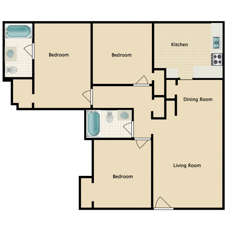 Floor plan image of Andy Jackson
