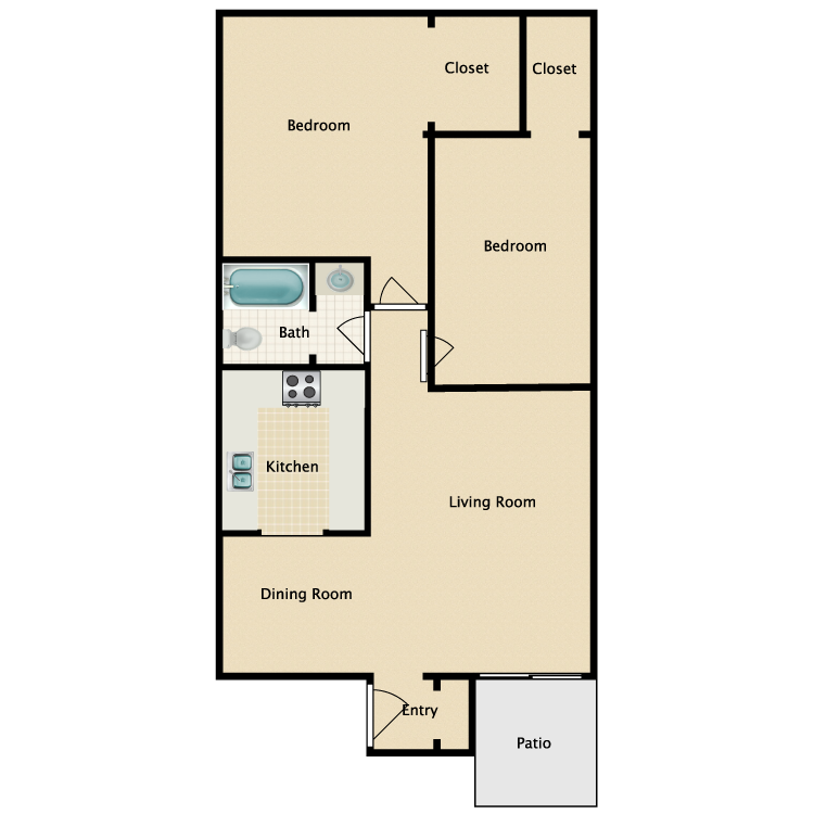 Floor plan image of The Donelson