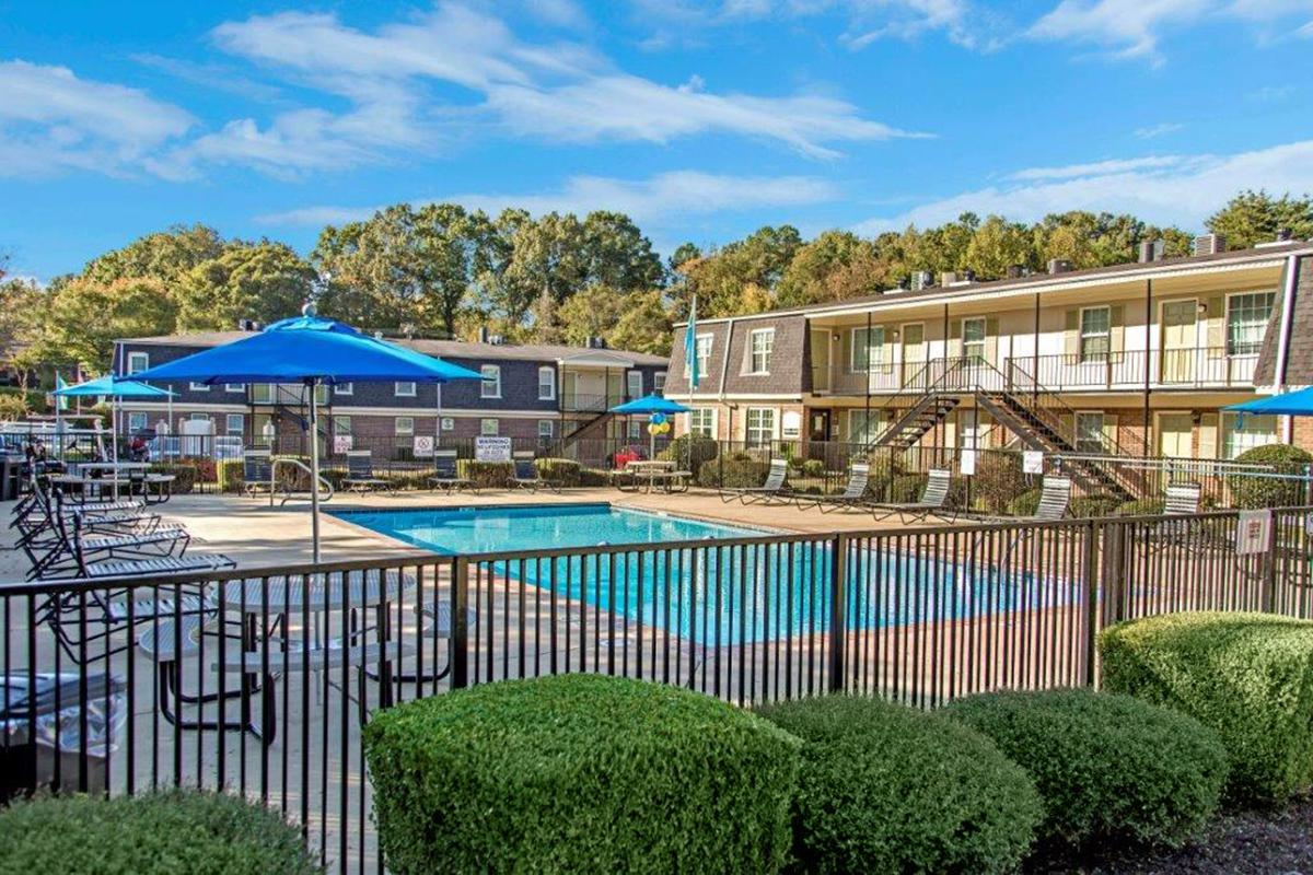 Pool Area at The Hermitage Apartments
