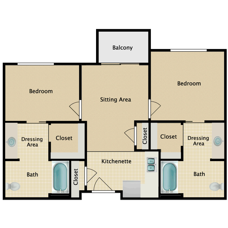 Floor plan image of 2 Bedroom D